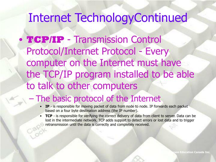 Internet technologycontinued