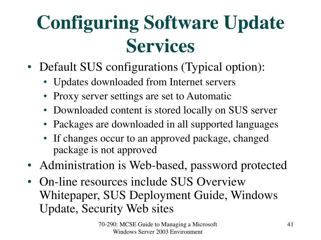 Configuring Software Update Services