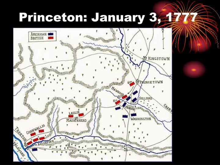 Princeton: January 3, 1777