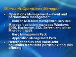microsoft operations manager