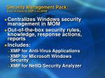 security management pack a set of security xmp s for mom