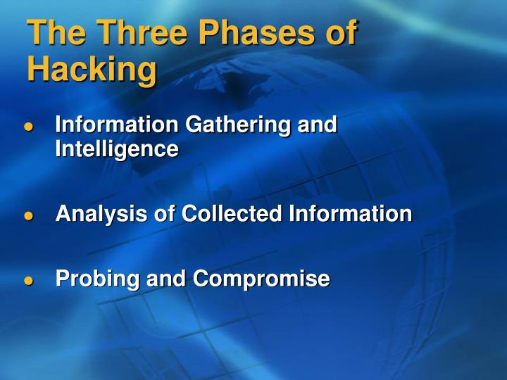 The three phases of hacking l.jpg