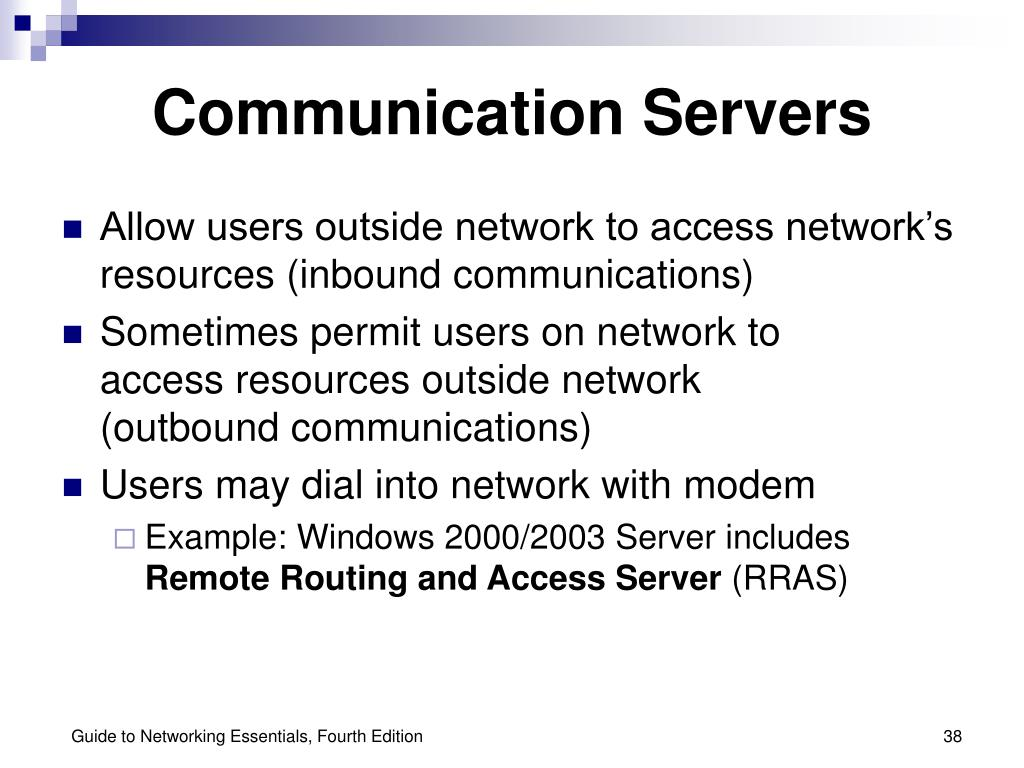 Communication Servers