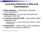 local area networks lans and internetworks