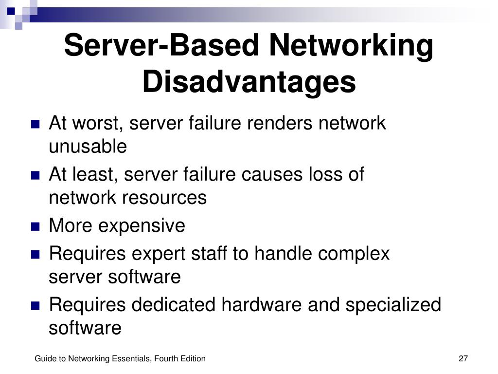 Server-Based Networking Disadvantages