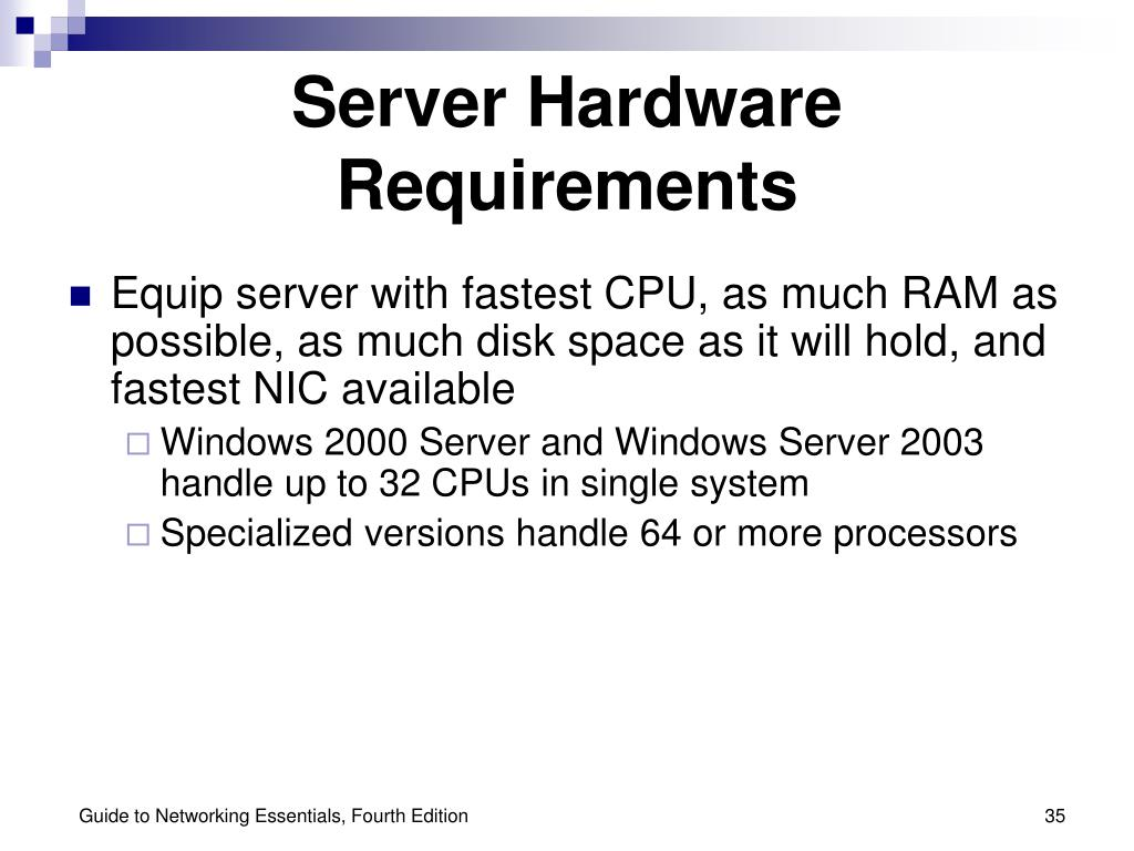 Server Hardware Requirements