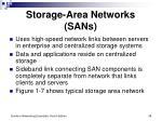 storage area networks sans