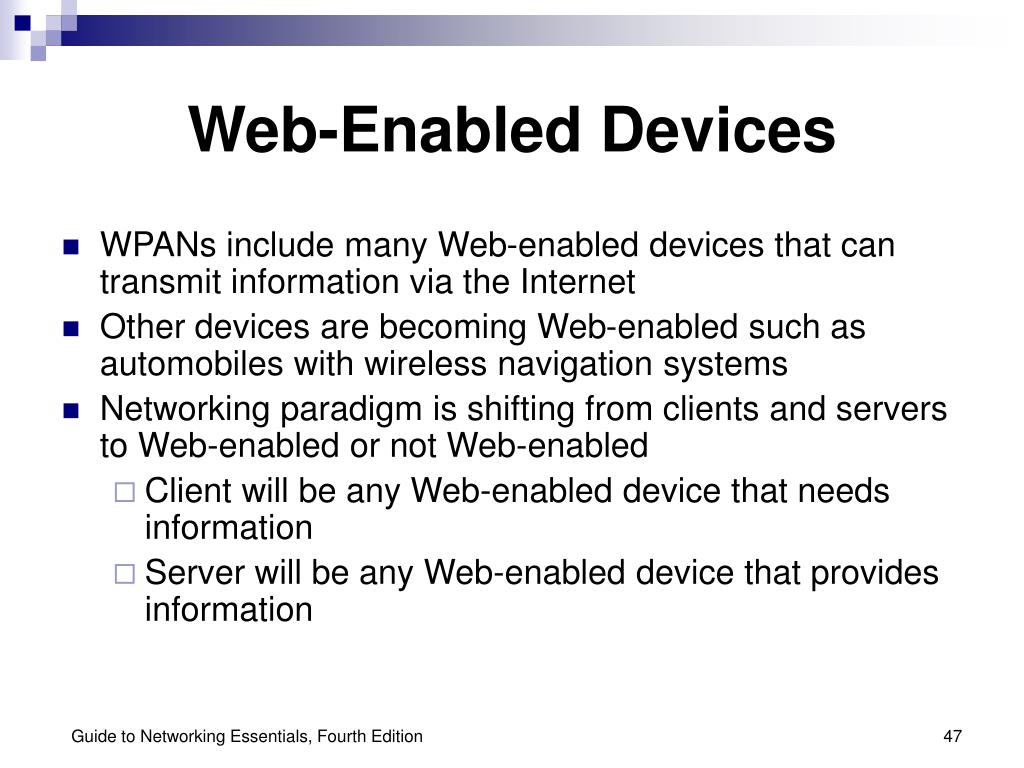 Web-Enabled Devices