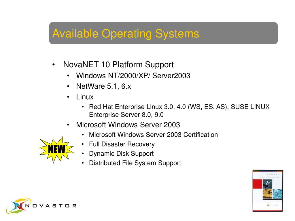 Available Operating Systems