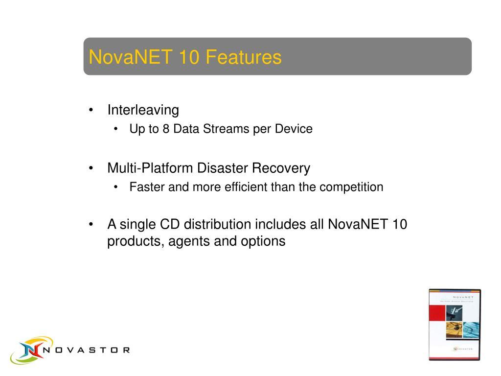 NovaNET 10 Features