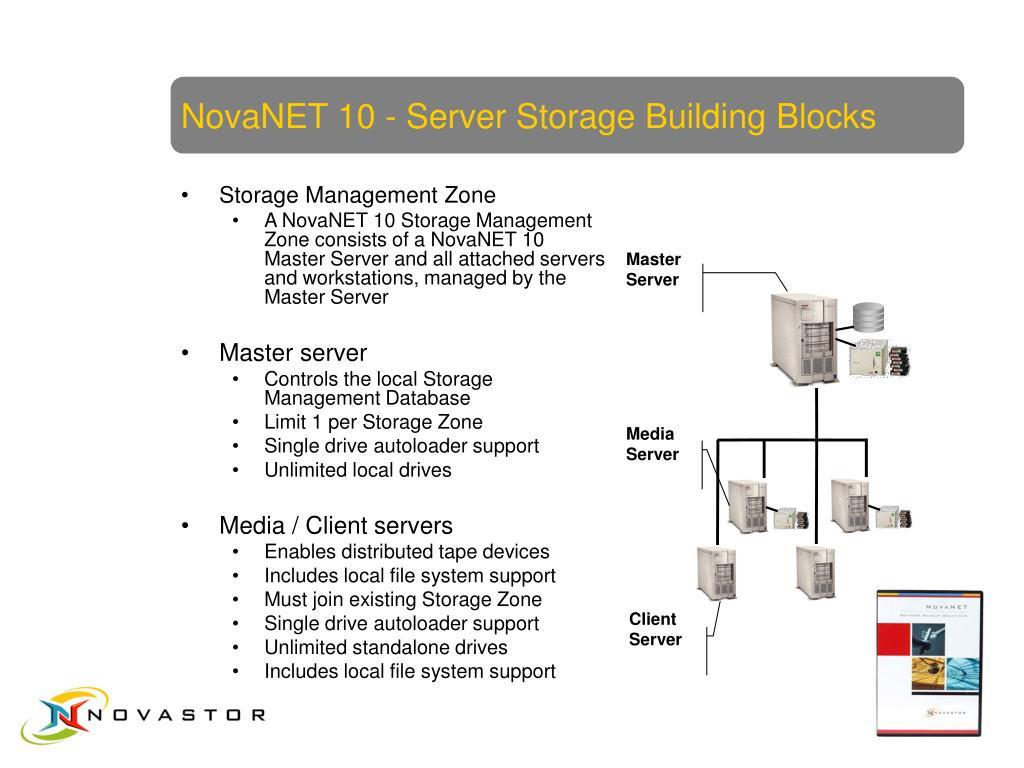 NovaNET 10 - Server Storage Building Blocks