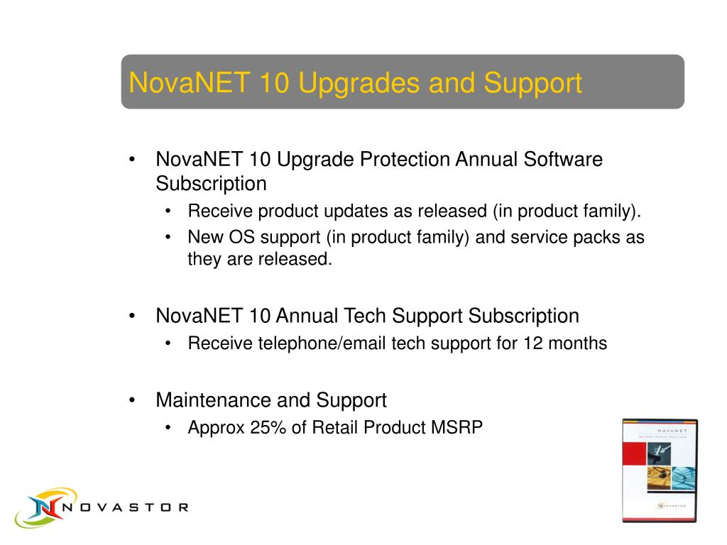 NovaNET 10 Upgrades and Support