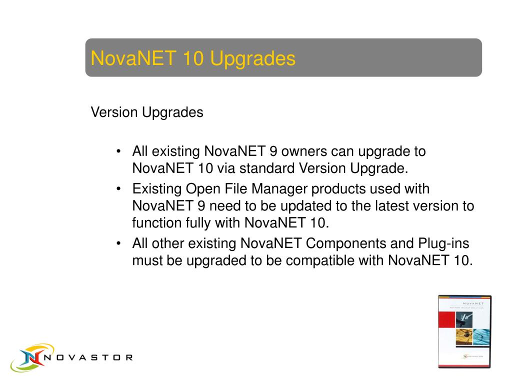NovaNET 10 Upgrades