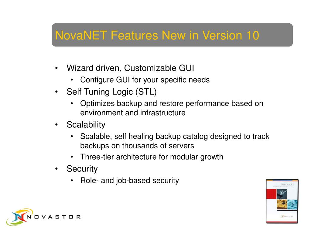NovaNET Features New in Version 10
