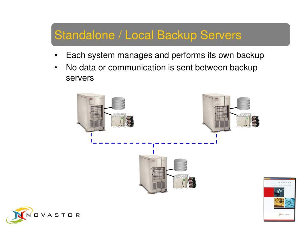 Standalone / Local Backup Servers