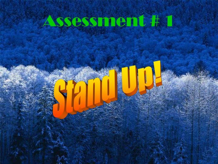 Assessment # 1