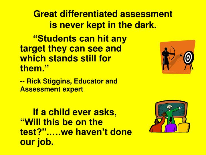 Great differentiated assessment