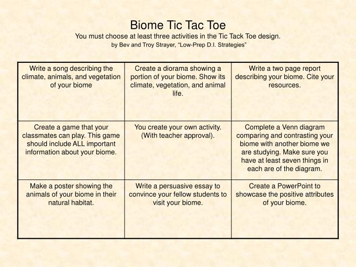 Biome Tic Tac Toe