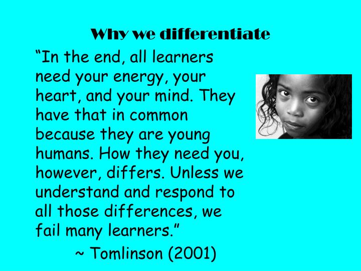 Why we differentiate