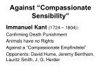 against compassionate sensibility