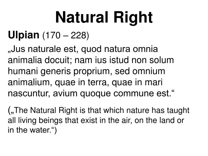 Natural Right