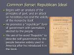 common sense republican ideal