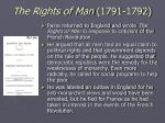 the rights of man 1791 1792