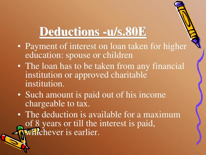 Deductions -u/s.80E