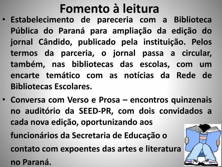 Fomento à leitura