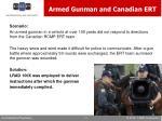 armed gunman and canadian ert
