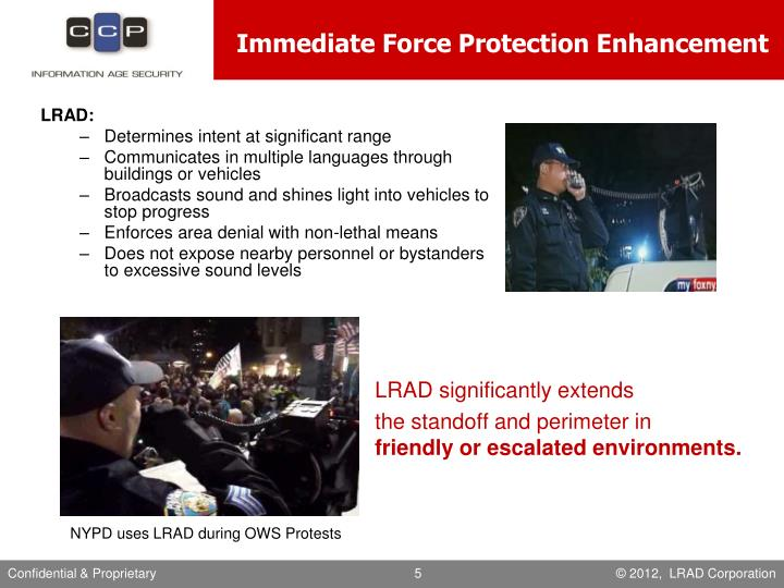 Immediate Force Protection Enhancement