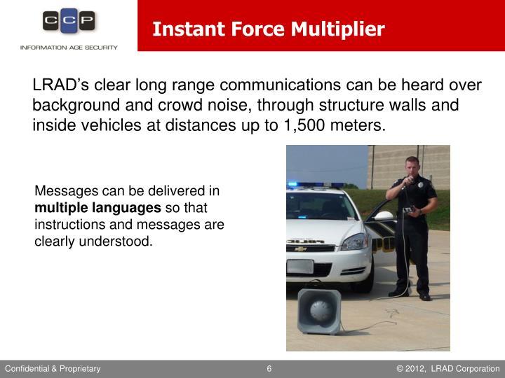 Instant Force Multiplier
