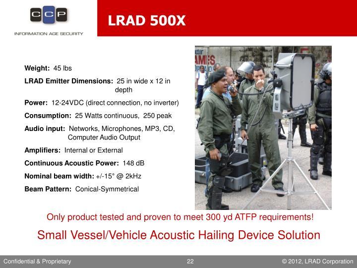 LRAD 500X