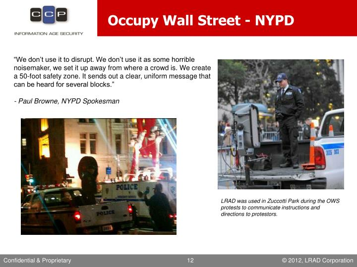 Occupy Wall Street - NYPD