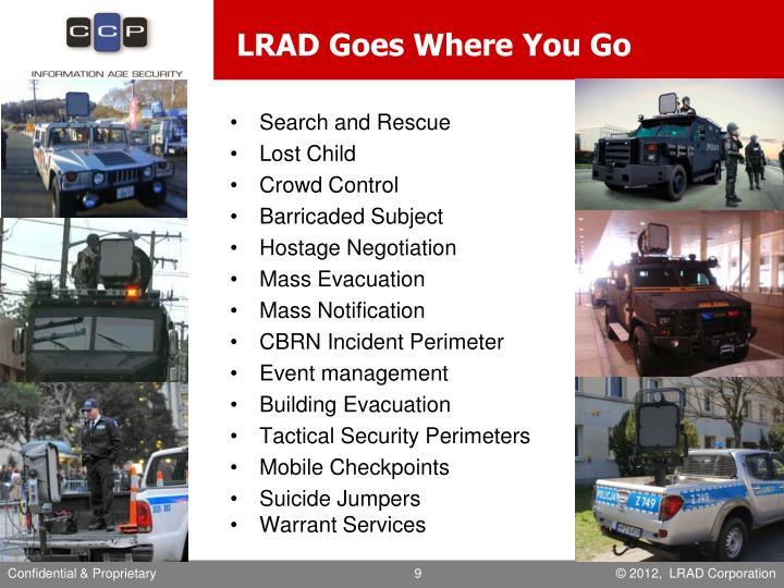 LRAD Goes Where You Go