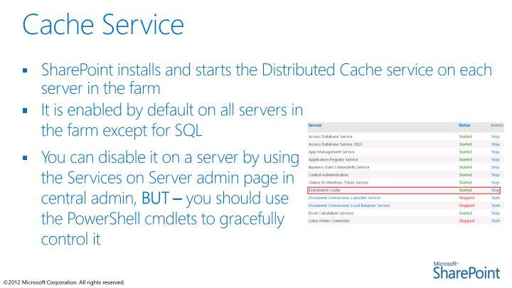 Cache Service