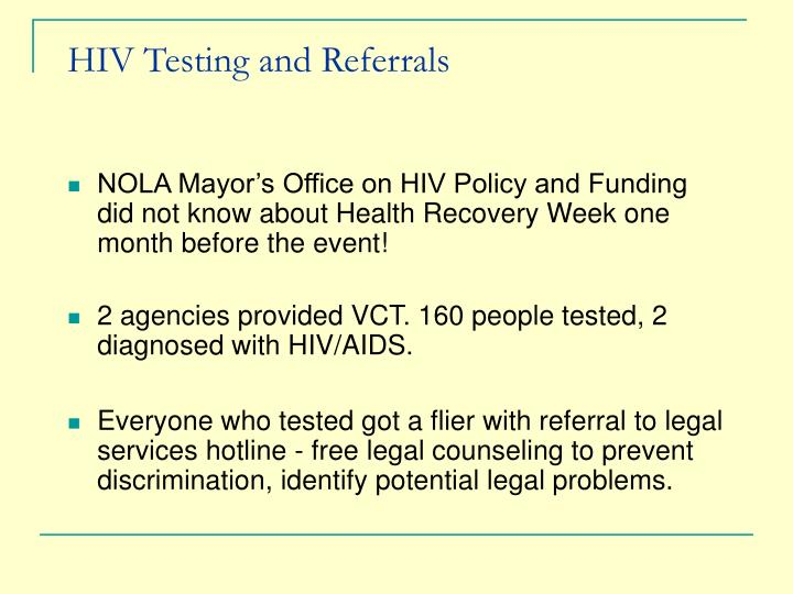 HIV Testing and Referrals