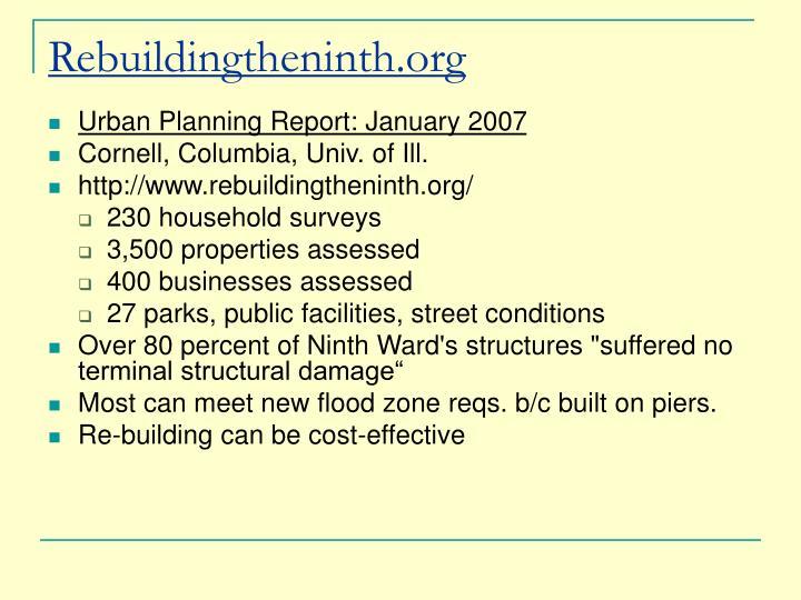 Rebuildingtheninth.org