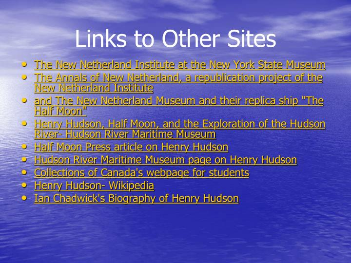 Links to Other Sites