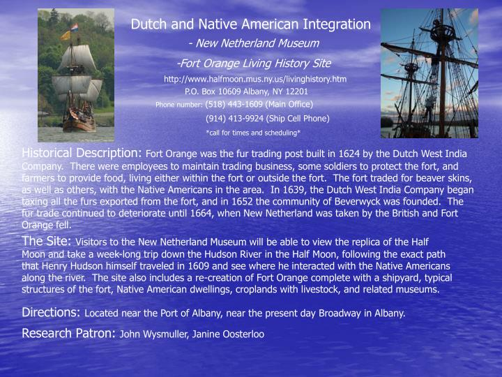 Dutch and Native American Integration