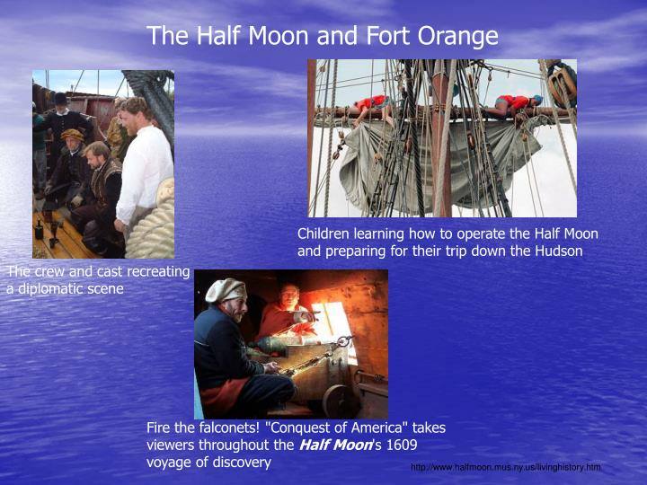 The Half Moon and Fort Orange