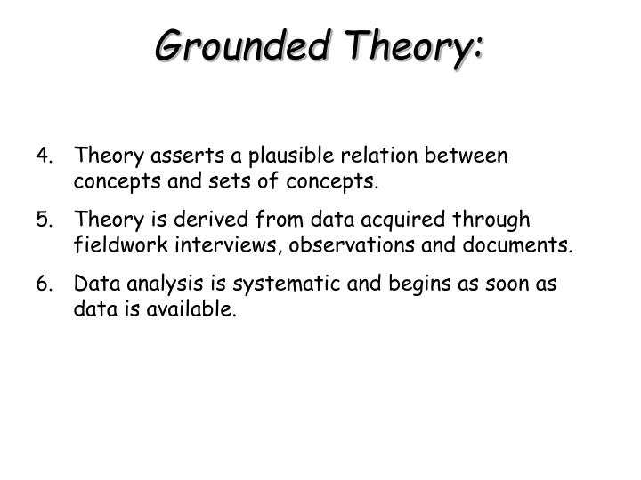 Theory asserts a plausible relation between concepts and sets of concepts.