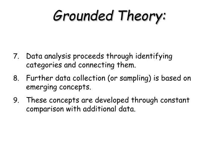 Data analysis proceeds through identifying categories and connecting them.