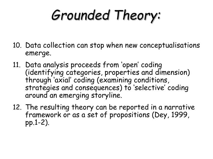 Data collection can stop when new conceptualisations emerge.