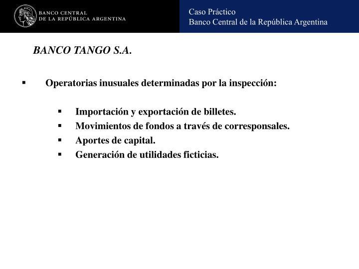 BANCO TANGO S.A.