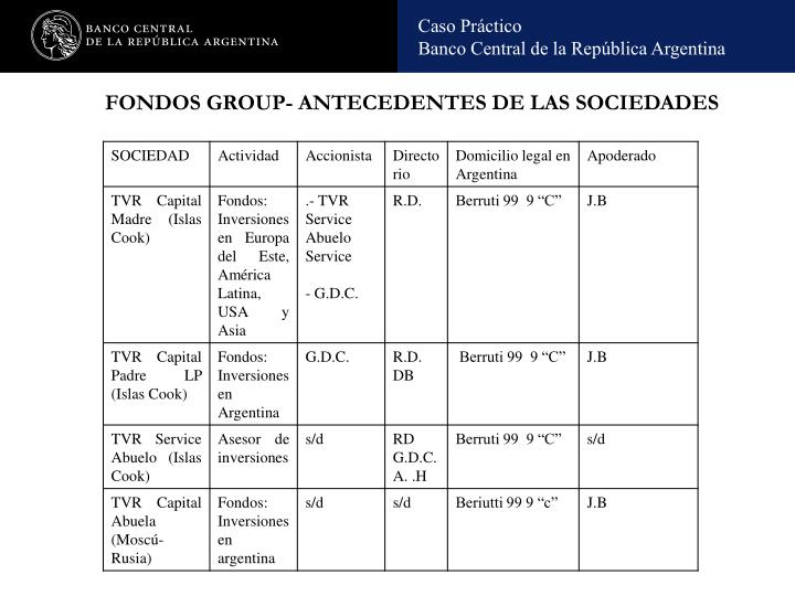 FONDOS GROUP- ANTECEDENTES