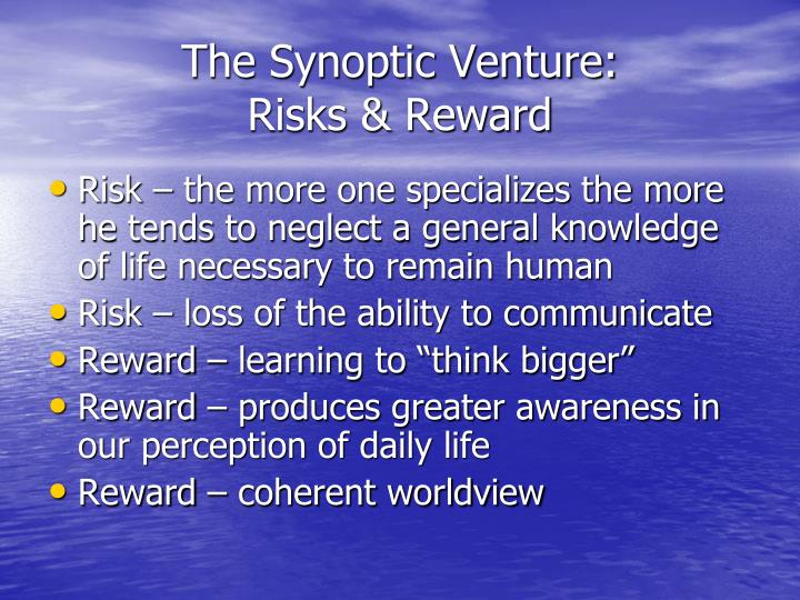 The Synoptic Venture: