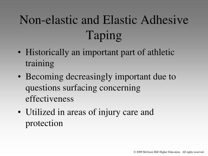 Non-elastic and Elastic Adhesive Taping