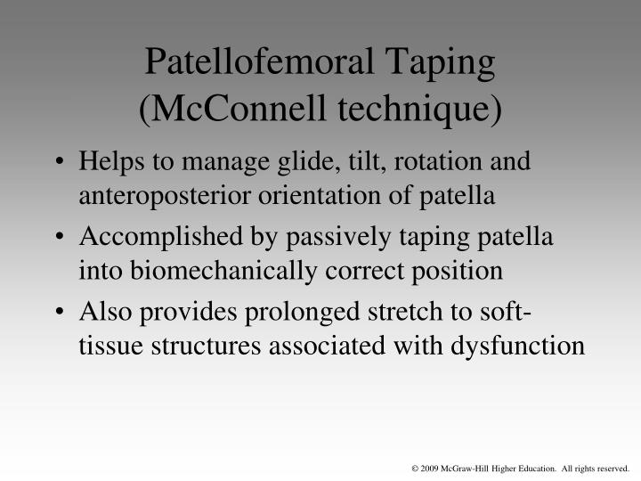 Patellofemoral Taping (McConnell technique)