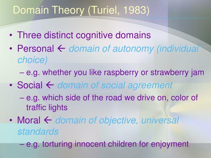 Domain Theory (Turiel, 1983)